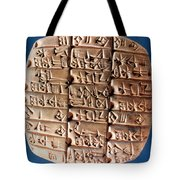 Sumer Tablet Of Accounts Tote Bag