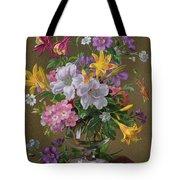 Summer Arrangement In A Glass Vase Tote Bag