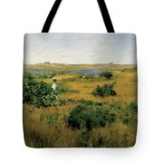 Summer At Shinnecock Hills Tote Bag by William Merritt Chase