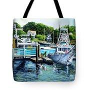 Summer At The Madfish Wharf Tote Bag