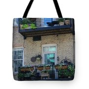 Summer Balconies In Chicago Illinois Tote Bag