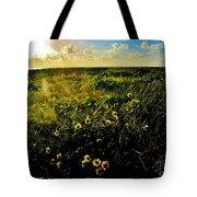 Summer Beach Daisy Tote Bag