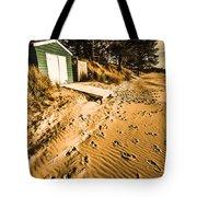 Summer Beach Shacks Tote Bag