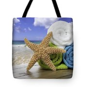 Summer Beach Towels Tote Bag by Amanda Elwell