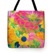 Summer Blossoms - Pop Art Tote Bag