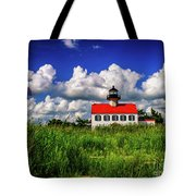Summer Clouds At East Point Tote Bag