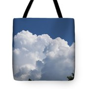 Summer Clouds In Maine Tote Bag