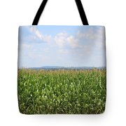 Summer Corn And Blue Skies In Maine  Tote Bag