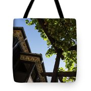 Summer Courtyard - Decorated Eaves And Grape Arbors In The Sunshine Tote Bag