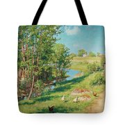 Summer Day By The Stream Tote Bag