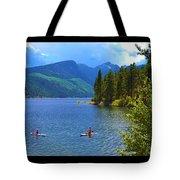 Summer Family Kayak Fun Tote Bag