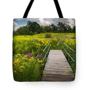 Summer Field Of Wildflowers Tote Bag