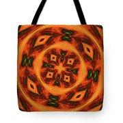 10697 Summer Fire Mask 54 Kaleidoscope 2 Tote Bag