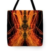 10658 Summer Fire Mask 58 - Dance Of The Fire Queen Tote Bag