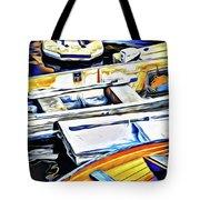 Summer Fishing Boats Tote Bag