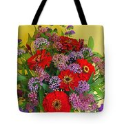 Summer Flower Bouquet Tote Bag
