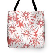 Summer Flowers Red Tote Bag