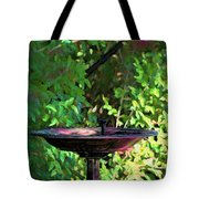 Summer Fountain Impasto Tote Bag