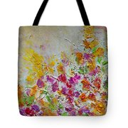 Summer Fragrance Abstract Painting Tote Bag by Julia Apostolova