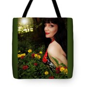 Summer Garden In The Late Afternoon Tote Bag