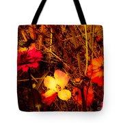 Summer Glow On Flowers Tote Bag