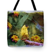 Summer Goldfinch - Digital Paint 2 Tote Bag