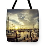 Summer Harbor Sunset Tote Bag