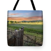 Summer Hay Bales  Tote Bag