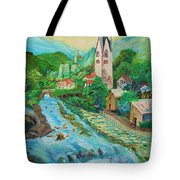 Summer In Alps Tote Bag