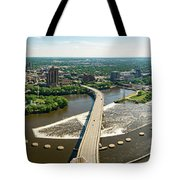Summer In The Mill City Tote Bag by Mike Evangelist