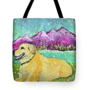 Summer In The Mountains With Summer Snow Tote Bag