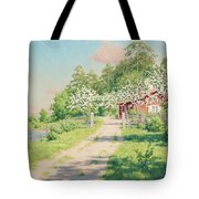 Summer Landscape With House Tote Bag