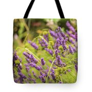 Summer Lavender In Lush Green Fields Tote Bag