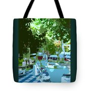 Summer Lunch Remembered Tote Bag