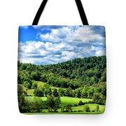 Summer Morning Meadow And Ridge Tote Bag