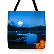 Summer Nights On The Pond Tote Bag