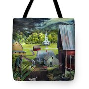 Summer On The Back Road In Vermont Tote Bag