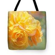 Golden Yellow Roses In The Garden Tote Bag