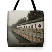 Summer Palace Pond With Ornate Balustrades Tote Bag
