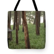 Summer Palace Trees And Lamp Tote Bag