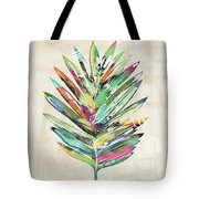 Summer Palm Leaf- Art By Linda Woods Tote Bag