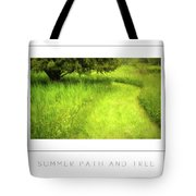 Summer Path And Tree Poster Tote Bag