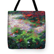 Summer Petals On A Forest Ground Tote Bag