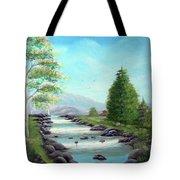 Summer Raging Waters Tote Bag