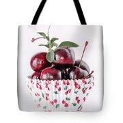Summer Red Cherries Tote Bag
