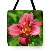 Summer Red Lily Tote Bag