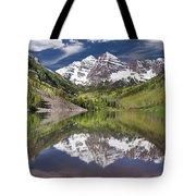 Maroon Bells Aspen Colorado Summer Reflections Tote Bag