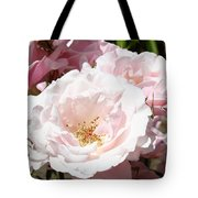 Summer Rose Garden Pink Flowers Baslee Troutman Tote Bag