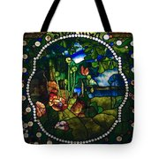 Summer Stained Glass Panel Tote Bag