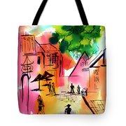 Summer Strolling Tote Bag
